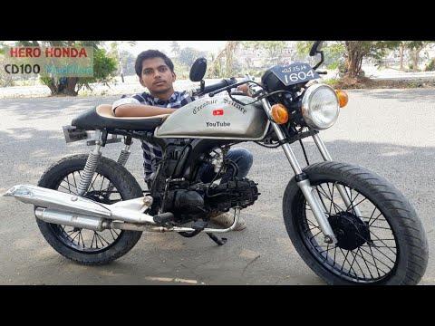 Modified bike Hero Honda CD 100 SS || Creative science