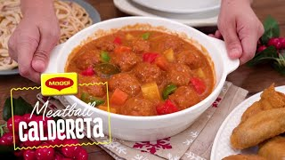 How to Cook Meatball Caldereta with MAGGI