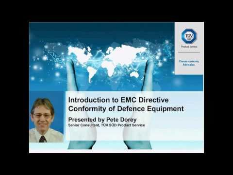 EMC Directive conformity of Defence Equipment - TÜV SÜD Product Service