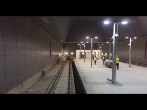 Jerusalem's new (nearly finished) underground train station and tunnels leading up to it