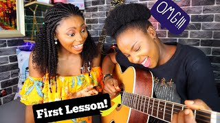 Teaching My Sister H๐w to Play the Guitar! She's a Natural | You Will Learn Too!