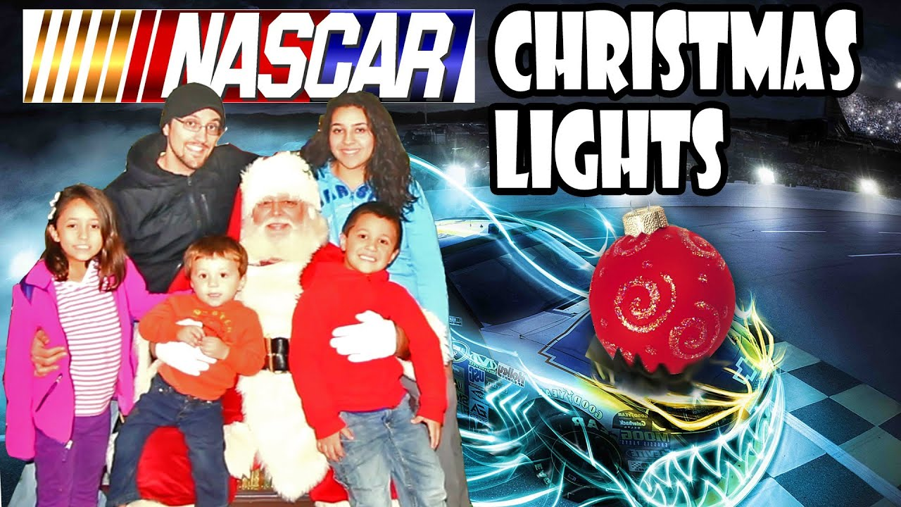 A Nascar Christmas! Lights Show, Driving On Race Track + Bumper ...