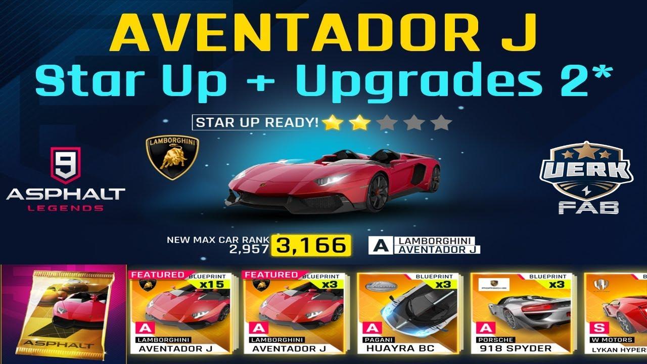 Asphalt 9 Opening 140 Packs Aventador J Star Up Upgrades 2