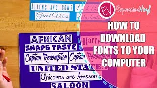 How to Download Fonts to your computer