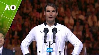 Rafael Nadal congratulates Roger Federer on his win | Australian Open 2017
