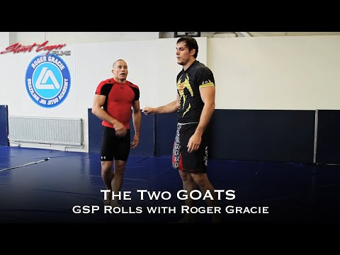 THE 2 GOATS GEORGE ST. PIERRE AND ROGER GRACIE ROLLING JIUJITSU