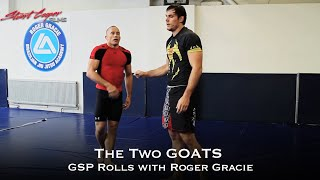 EPIC ROLL! The 2 GOATS George St. Pierre and Roger Gracie rolling Jiujitsu