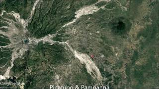 Pampanga and Mount Pinatubo Satellite Imagery Time-Lapse (Google Earth)