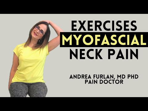 Exercises for myofascial neck pain