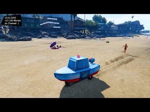 Bikini Bottom Police Boat 2.0 - GTA V MOD ENB | 2.7K / 1440p !