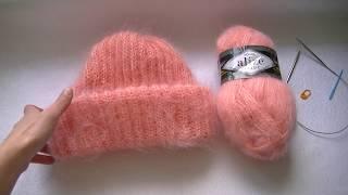 Вязание шапки английской резинкой.Шапка Такори.