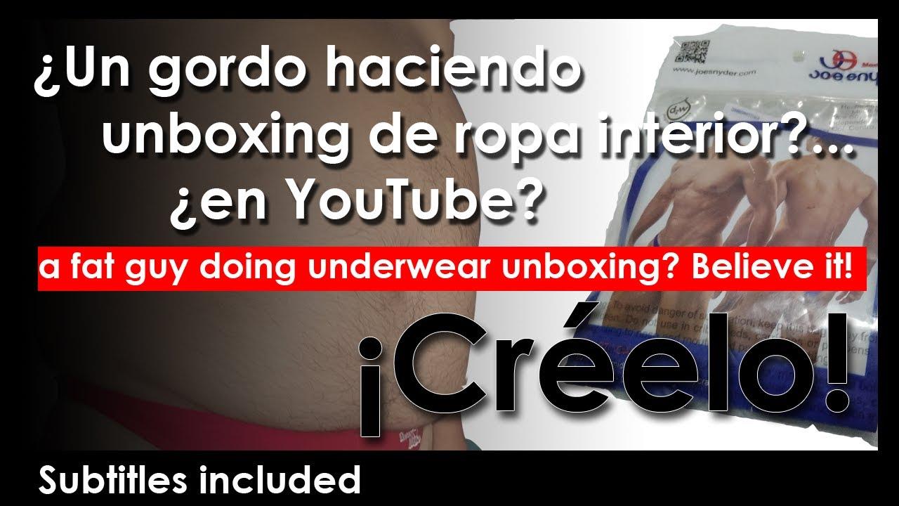 ¿Un gordo haciendo unboxing de tangas? Fat guy doing underwear, swimsuit, thongs and speedo unboxing