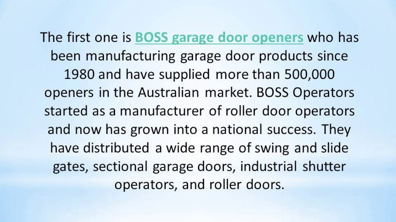 Most Iconic Garage Door Opener Brands Offered By Agg Doors Youtube