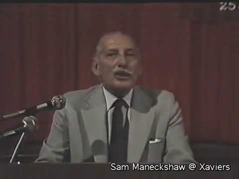 "Field Marshal Sam Manekshaw @ Xaviers ""Lessons in Leadership"""
