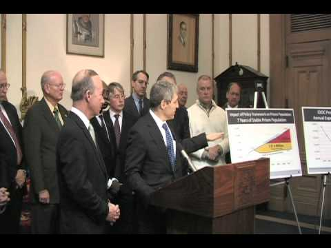 Governor Daniels, state leaders endorse results of sentencing reform study