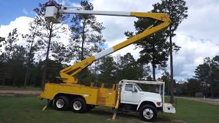 1995 Ford FT 900 F Series Teco 65 Ft Bucket Truck VIN 6592 All Out