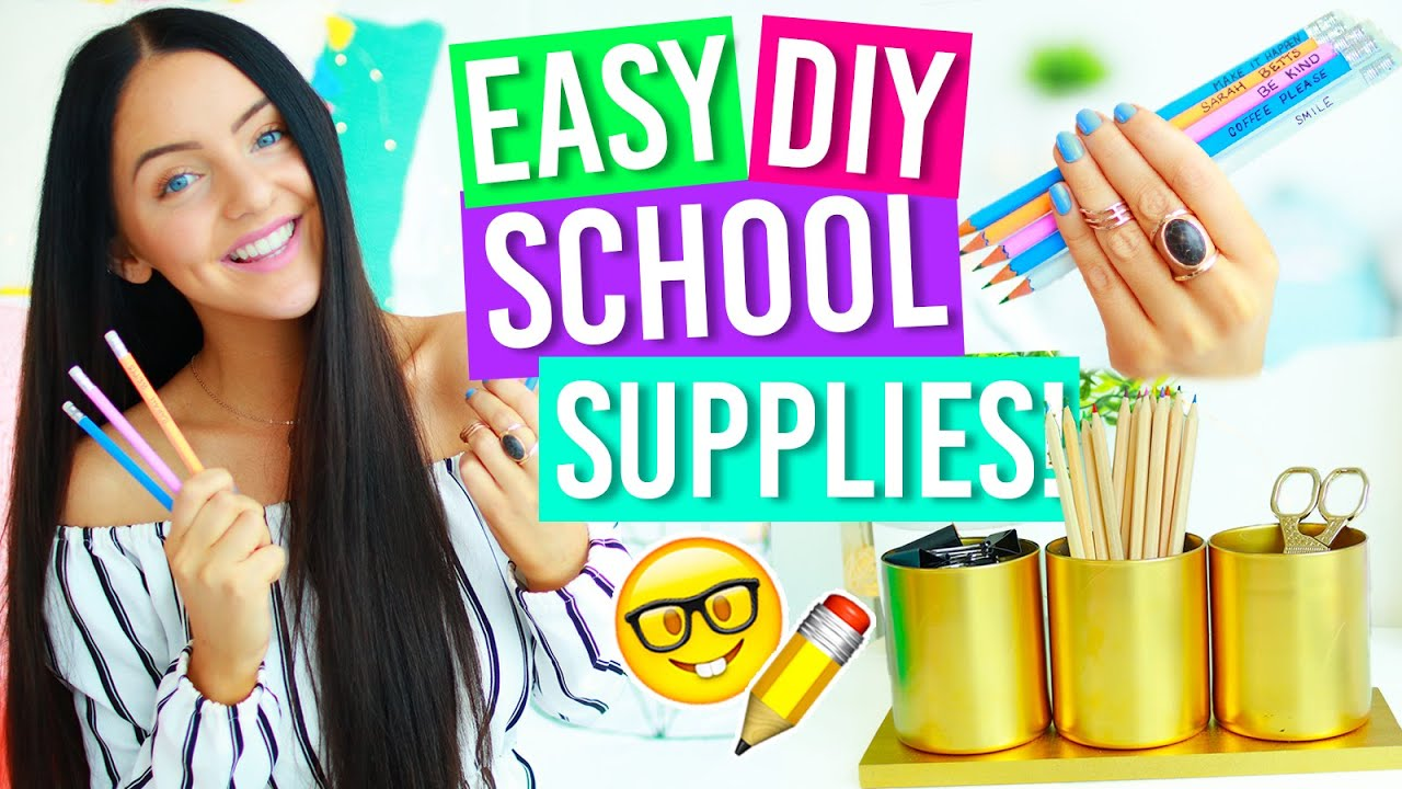 Diy back to school supplies 2016 notebook pencils for Room decoration products