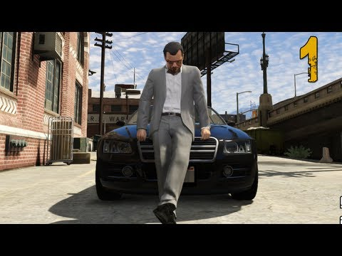 """Grand Theft Auto V Walkthrough - Part 1 """"Bank Robbery"""" (Let's Play, Playthrough)"""