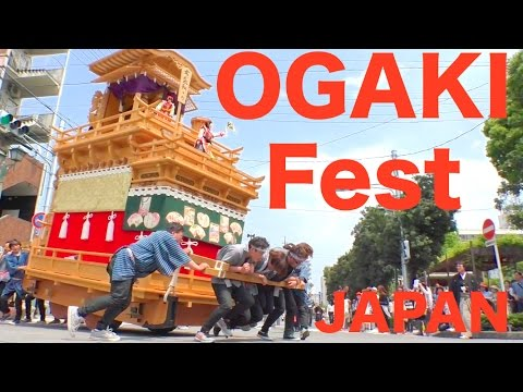 【Full HD】OGAKI Festival in Gifu-prefecture, Japan. UNESCO'S May 2017 R¡i¡
