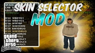 GTA San Andreas SKIN SELECTOR MOD!! How To Use + Download Link!!