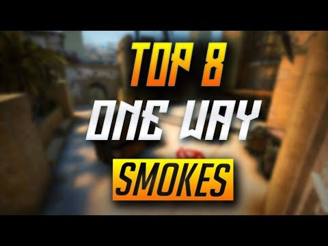 TOP 8 ONE-WAY SMOKES ON MIRAGE - CS:GO (2018)