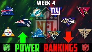 NFL Week 4 Power Rankings 2020