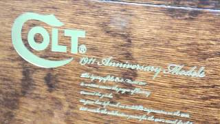 Taiwan Made Wooden Pistol Case For Colt M1911a1