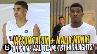 Malik Monk, Jayson Tatum On Same AAU Team Vs Miles Bridges! Throwback Highlights!