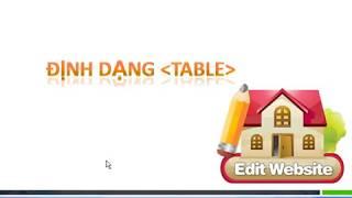 Giáo trình thiết kế web, sử dụng  HTML, CSS, JS, bài kẻ bảng tag table