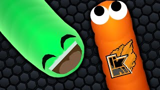 JELLY VS KWEBBELKOP! (Slither.IO)