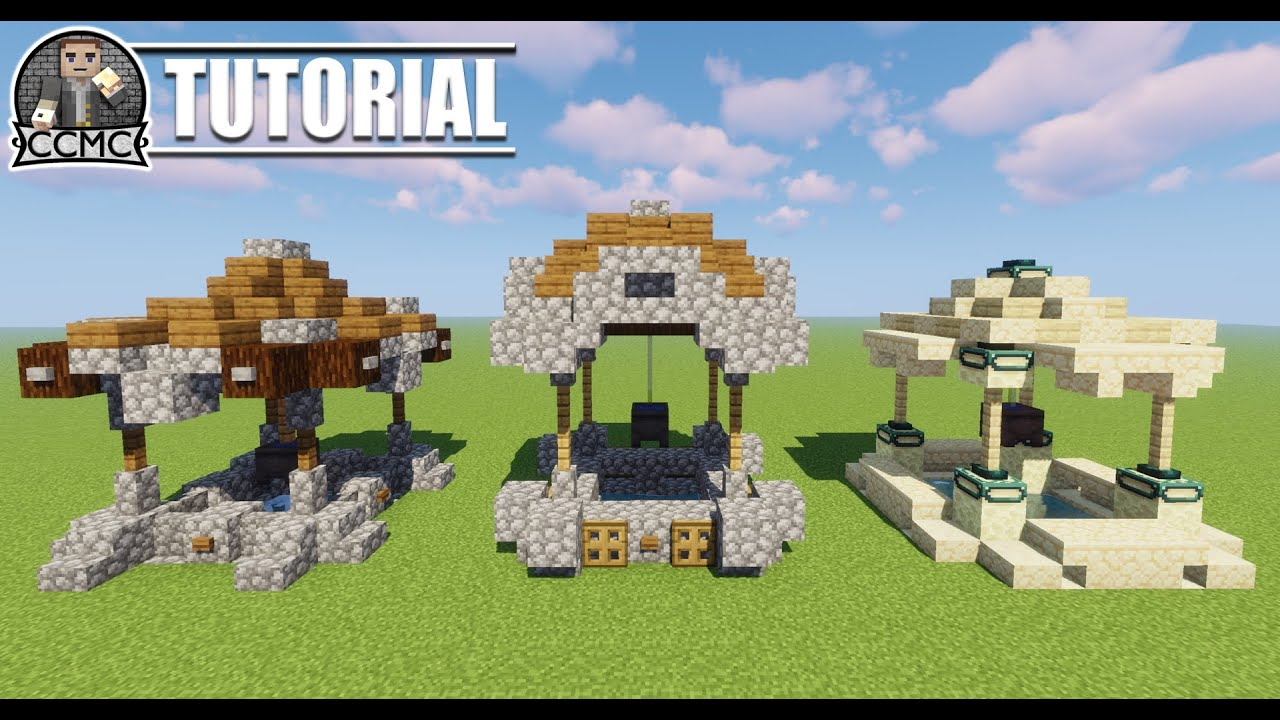7 Amazing Minecraft Well Designs - How To Build Tutorial