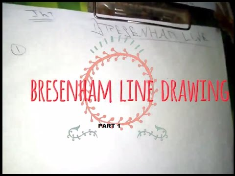 Bresenham Line Drawing Algorithm Derivation : Bresenham s line drawing algorithm in computer graphics hindi
