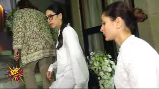 Emotional Kareena Kapoor Khan With Sister Karisma Kapoor At Rani Mukerji's Father's Prayer Meet