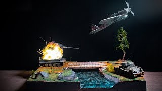 TANK BATTLE DIORAMA EPOXY RESIN HOW TO MAKE