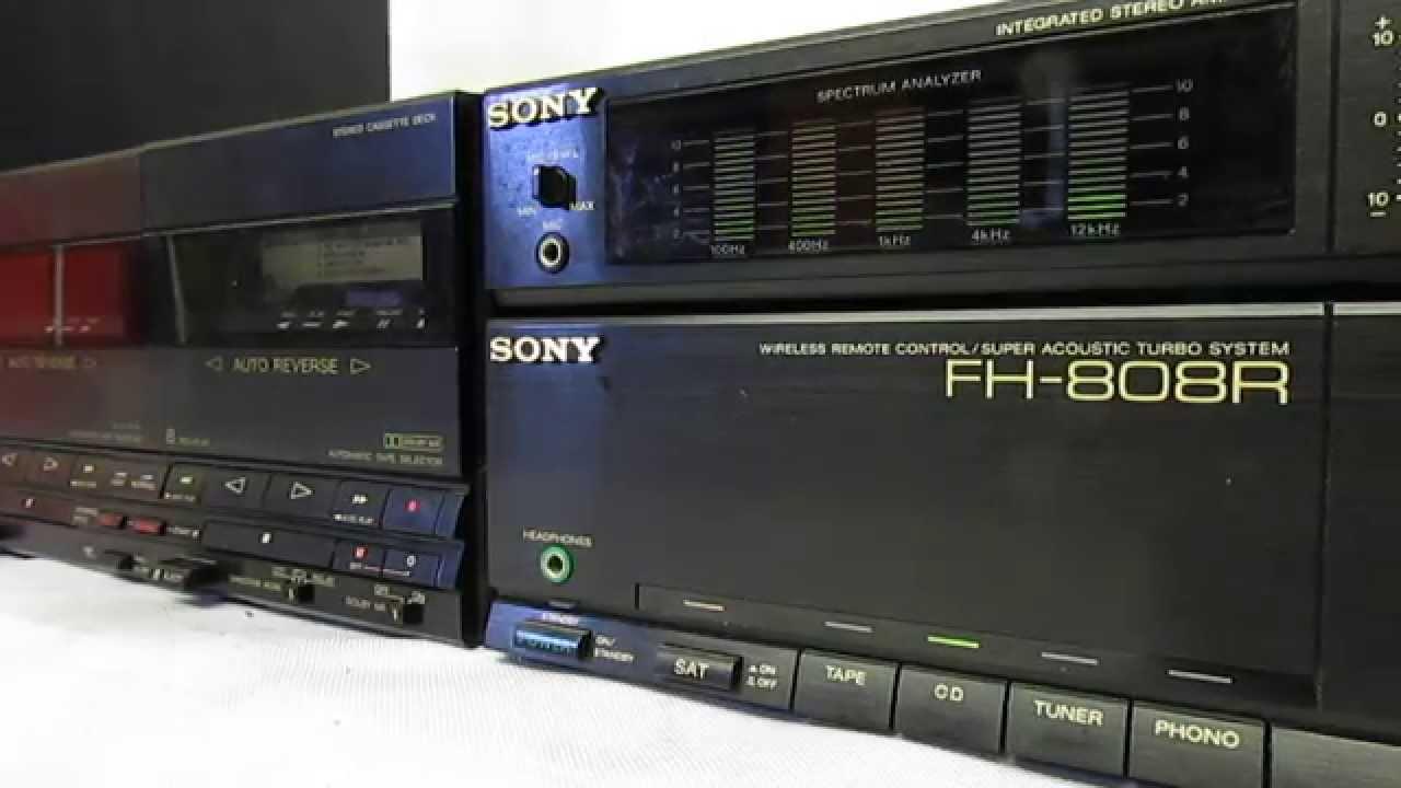 Sony Fh 808r Mini Hi Fi Vintage Youtube