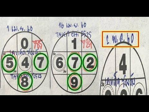 เลขเด่นเดินดี สถิติหวย 2 งวดซ้อน งวดวันที่ 02/05/60