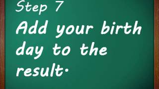 Fun Math Tricks - Finding Date of birth(Math tricks always are fun and amazing. Learn how math tricks works. http://www.ebisoftcafe.com/products/comfymath., 2013-07-13T11:35:26.000Z)