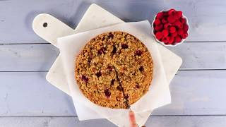 Peach-Raspberry Buckle | Southern Living
