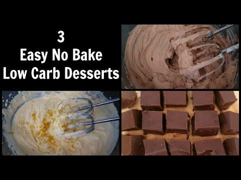 3 Easy No Bake Low Carb Dessert Recipes | Quick Sugar Free Desserts