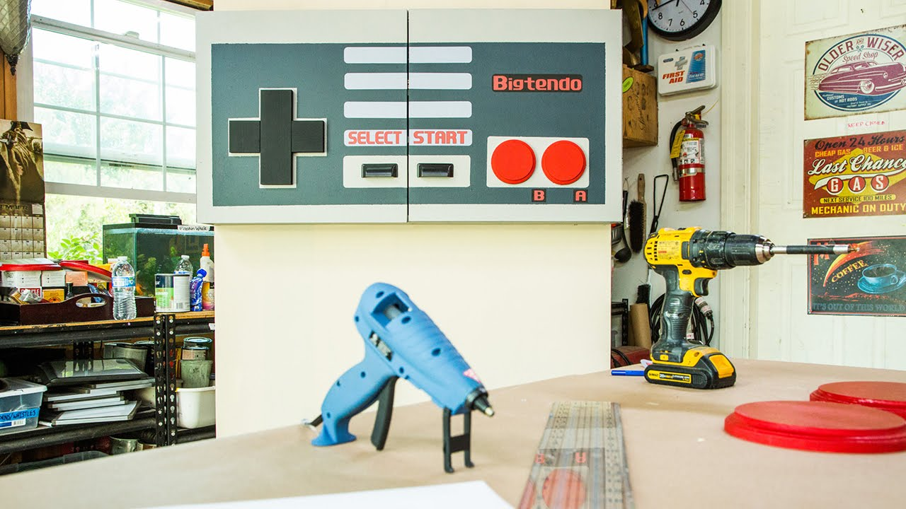 Marku0027s DIY Video Game Cabinet   YouTube