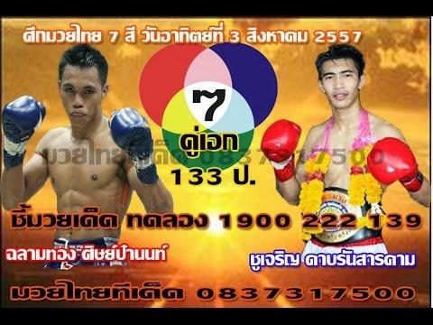 ทัศนะวิจารณ์ ศึกมวยไทย 7 วันอาทิตย์ที่ 3 สิงหาคม 2557 พร้อมฟอร์มหลัง