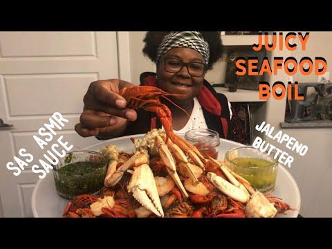 JUICY SEAFOOD BOIL 3 POUND MUKBANG | SAS ASMR SAUCE ⚠️ EATING SHOW |
