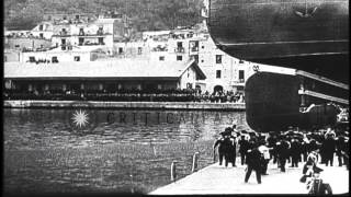 Operations At An Italian Shipyard During World War I Hd Stock Footage