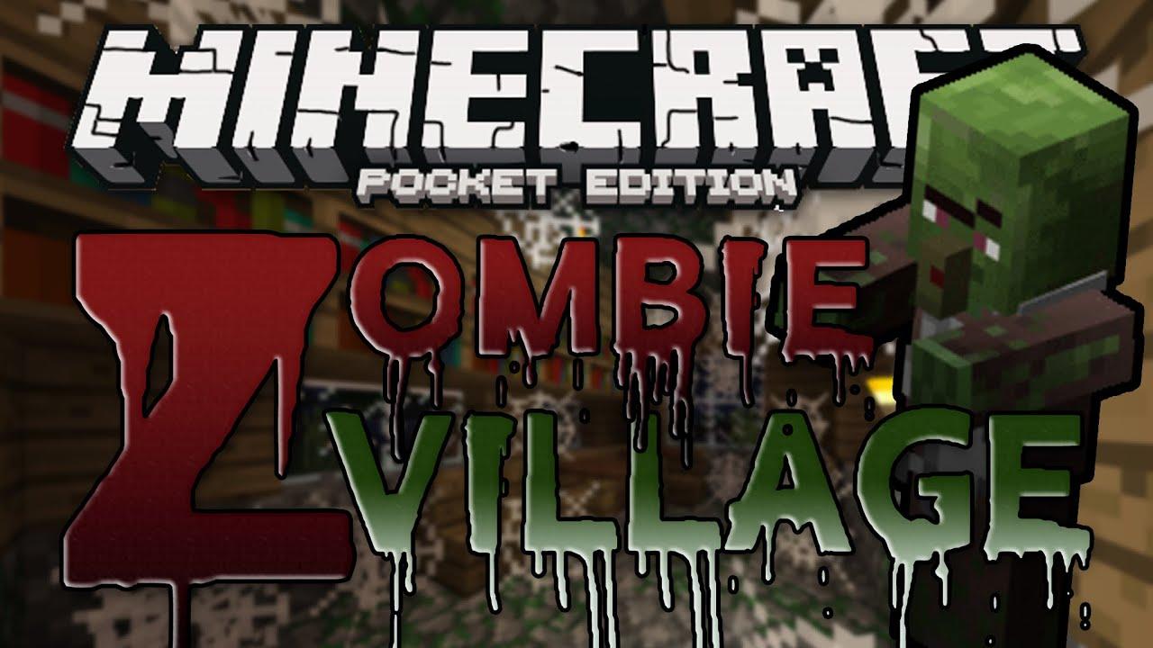 SECRET ZOMBIE VILLAGE SEED Minecraft Pocket Edition YouTube - Minecraft die grobten hauser