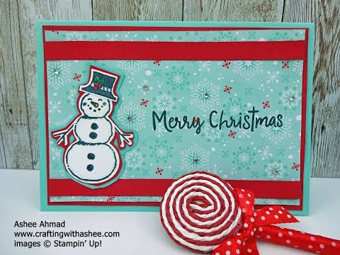 Christmas Card Tutorial - Removable Magnet Snowman thumbnail
