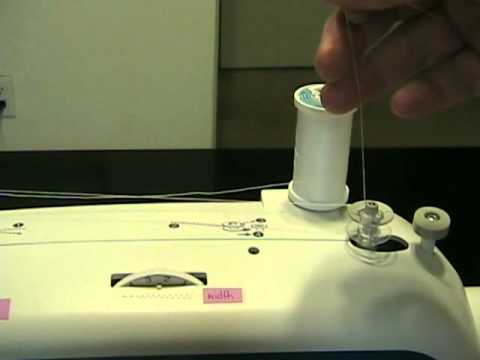 1 How To Wind A Bobbin On The Brother Xl2600i Sewing Machine Youtube