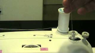1) How to wind a bobbin on the Brother XL2600i sewing machine