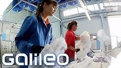 Täglich zwischen fremder Wäsche - Arbeiten in einer Großwäscherei   Galileo   ProSieben
