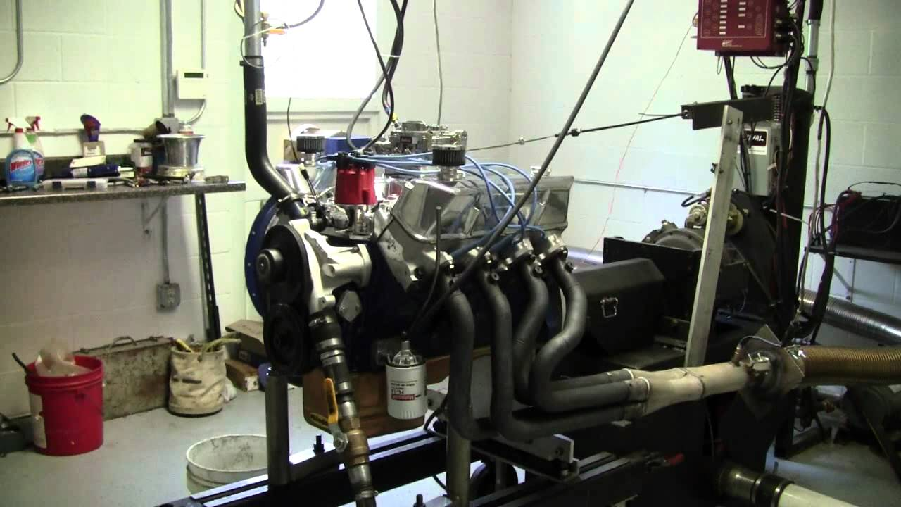 445 FE Ford 390 with Survival stroker kit on dyno