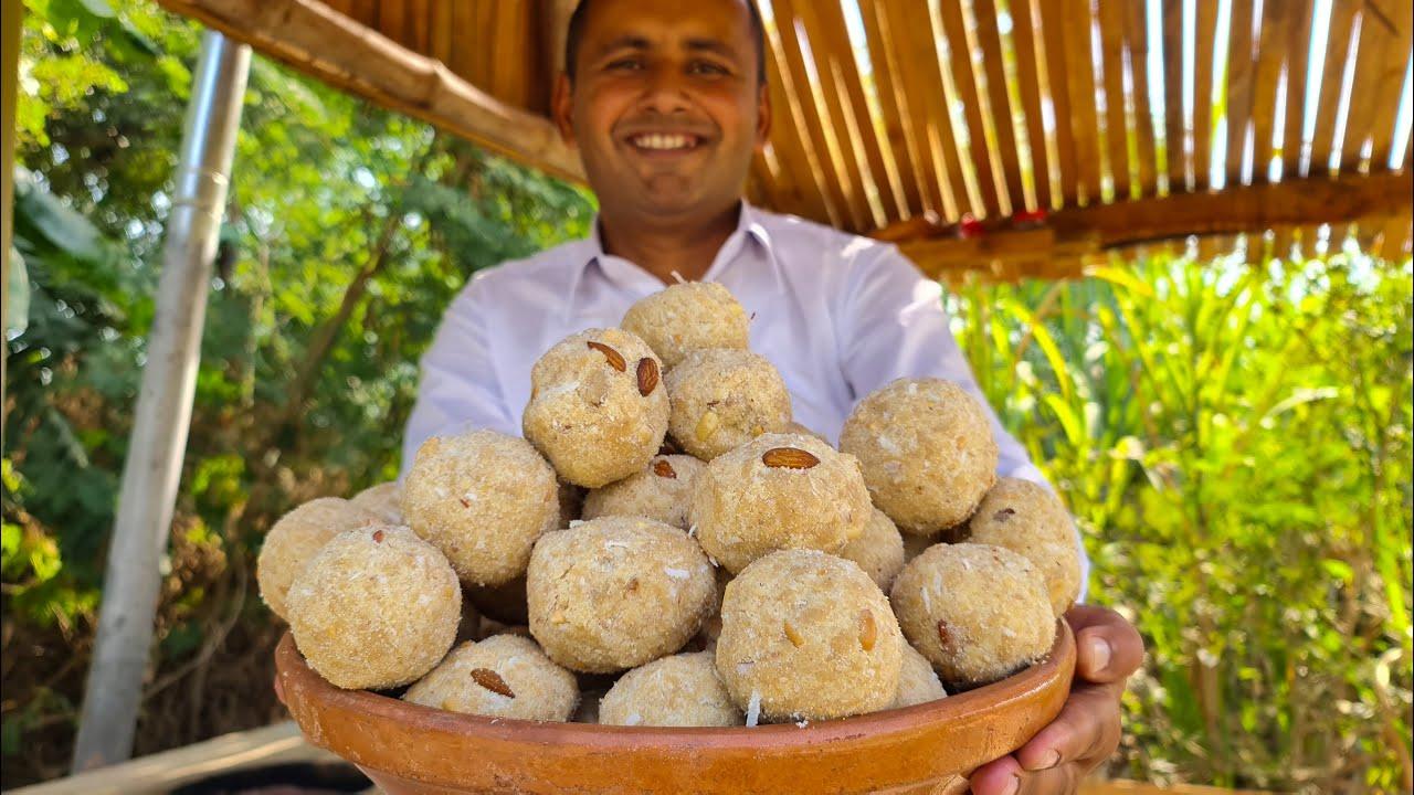 Rice Flour Laddu Recipe | Sweet Ladoo With Rice Flour | Mubashir Saddique | Village Food Secrets
